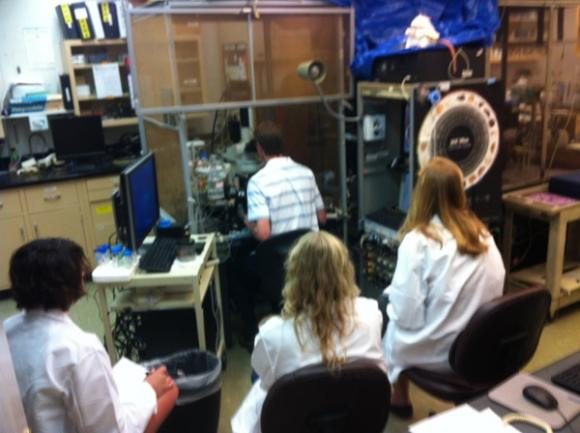 Students at an Ephys Session.